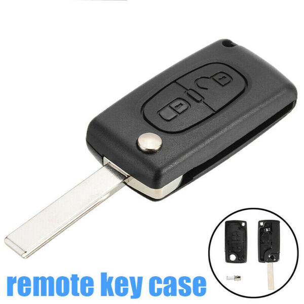 2 Buttons Flip Remote Key Case Blade Shell Fit PEUGEOT 207 307 308 406 407 3008