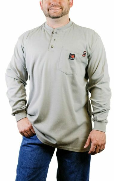 NEW Forge FR Fire Retardant Henley Shirts Fast Shipping $34.99