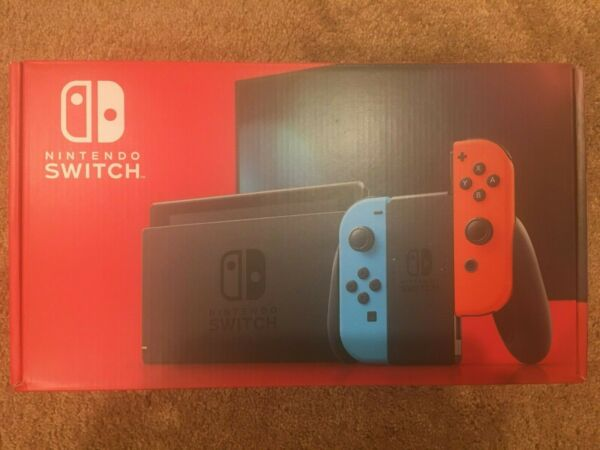 Brand New! Nintendo Switch Console with Neon Blue and Neon Red Joy‑Cons