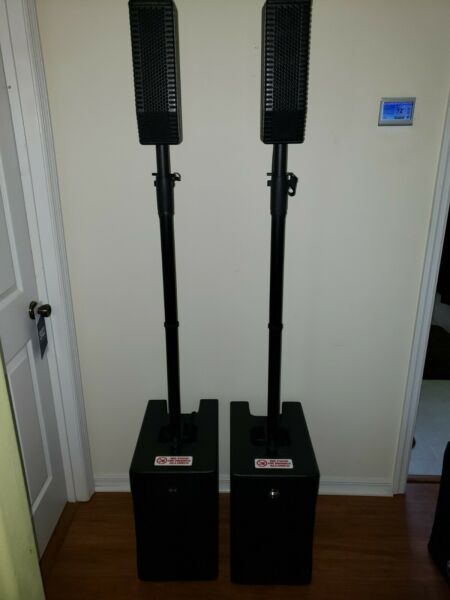 2x RCF EVOX 5 Active Portable 2-Way Array PA Speaker with RCF  Cases  Bags