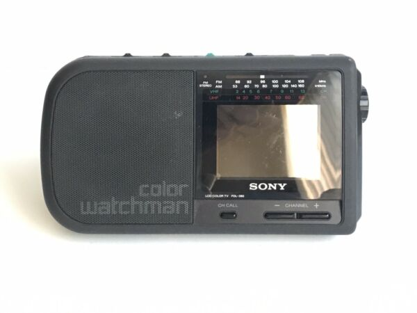 Vintage Sony Color Watchman LCD Color TV and AMFM stereo # FDL-380