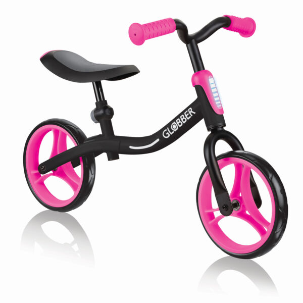 Globber GO BIKE Balance Training Bike for Toddlers Black amp; Pink Open Box $36.65