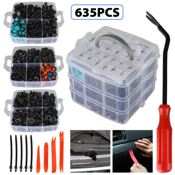 625Pcs Car Auto Push Retainer Clips amp; Plastic Fasteners Set for GM Toyota Honda $21.98