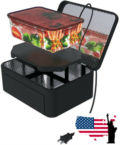 Portable Food Warmers Electric Heater Lunch Box Mini Oven 12V Car 110V Office $29.44