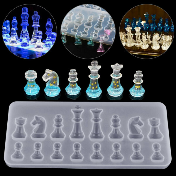 DIY Silicone Resin Chess Mold Jewelry Pendant Making Tool Mould Craft Handmade $6.98