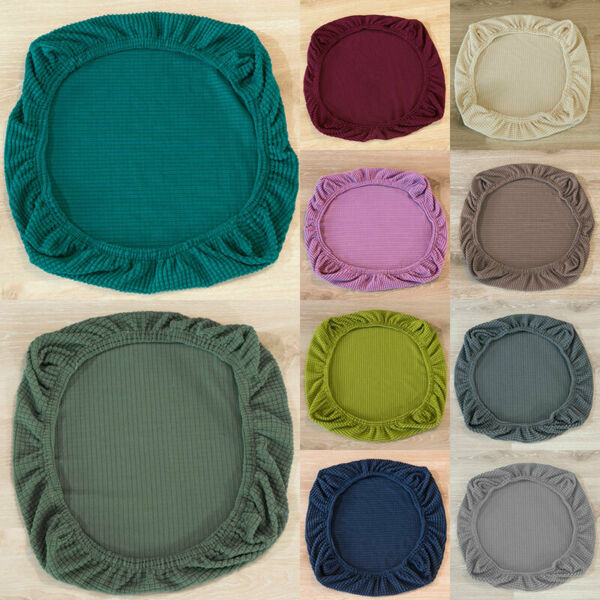 Universal Stretch Seat Cover Wedding Dining Room Office Chair Seat Cushion Cover $4.65