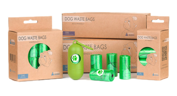 Animal Buddy Dog Waste Bags Disposable Biodegradable Poop Baggies No Leaks $6.99