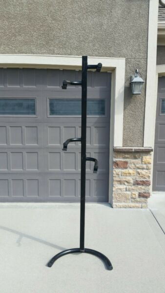 Used Gravity Bike Stand Storage Space Saving Rack for 1 2 Bikes $50.00
