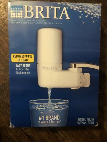 Brita Basic Faucet Mount Filtration 1 System amp; 1 Filter Open Box New
