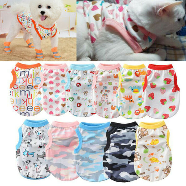 Summer Cat Dog Shirt Vest Apparel Pet Clothes For Chihuahua small Dog Clothing $3.07