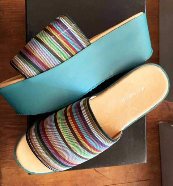 Rainbow Cathy Platform Slide Donna Bella