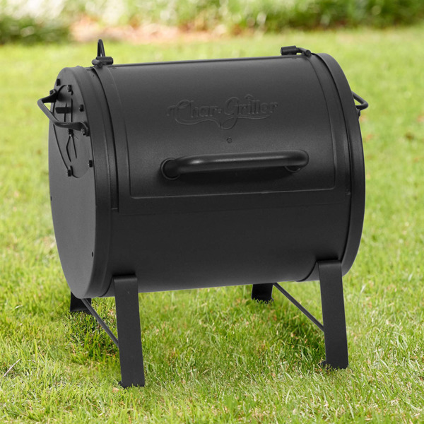 Char Griller Portable Outdoor Cooking Side Fire Box Adjustable Charcoal Grill