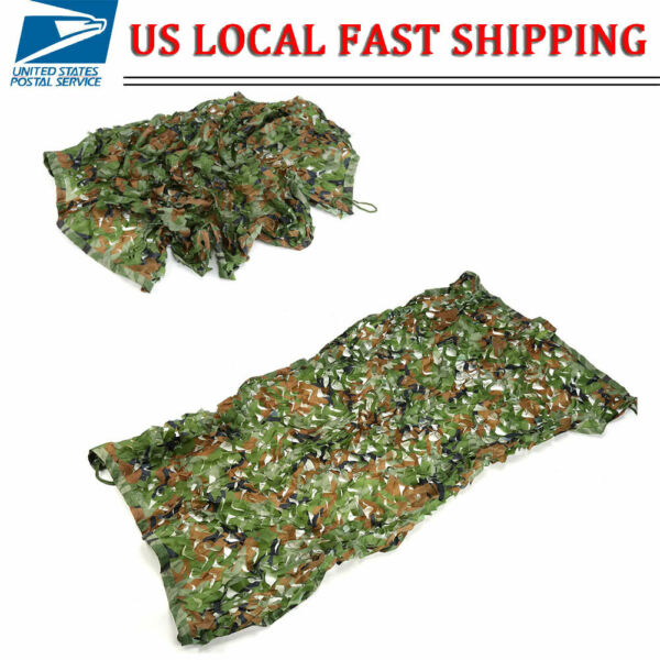 1x2m Woodland Camouflage Netting Military Army Camo Camping Hunting Shooting Net