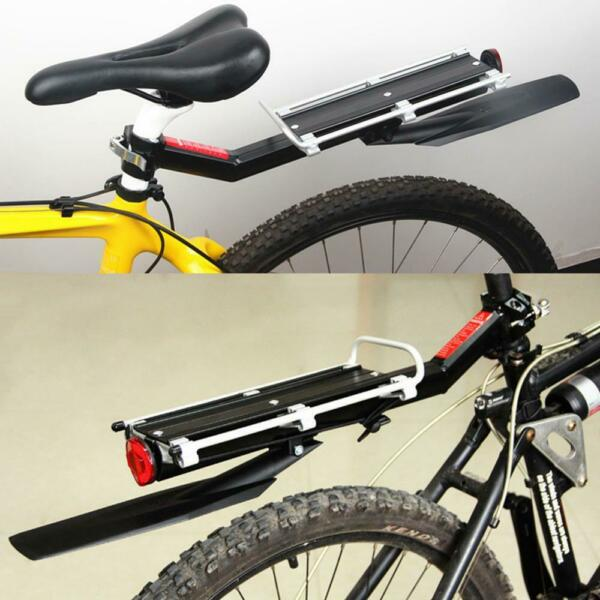 Bicycle Mountain Bike Rear Rack Seat Aluminum Post Mount Pannier Luggage Carrier $22.99