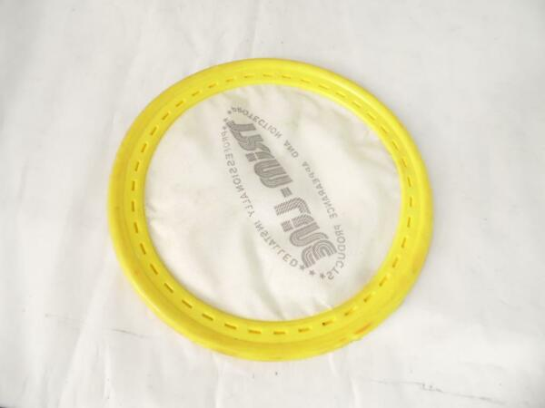 VINTAGE FLOPPY SOFT FABRIC FLYING DISC FRISBEE YELLOW TRIM LINE $18.28