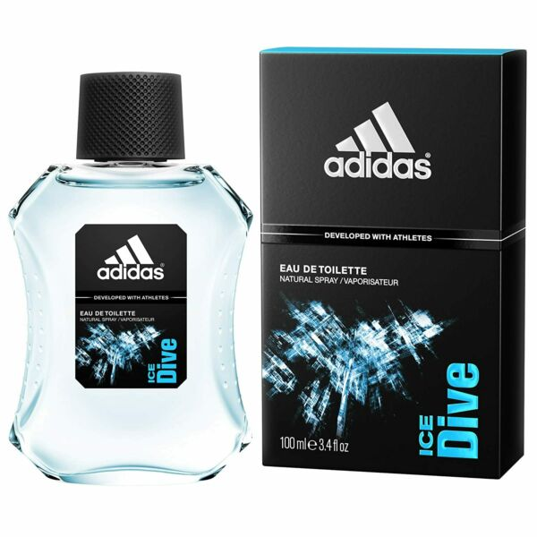 Adidas Ice Dive Cologne by Adidas 3.4 oz EDT Spray for Men NEW IN BOX $8.18
