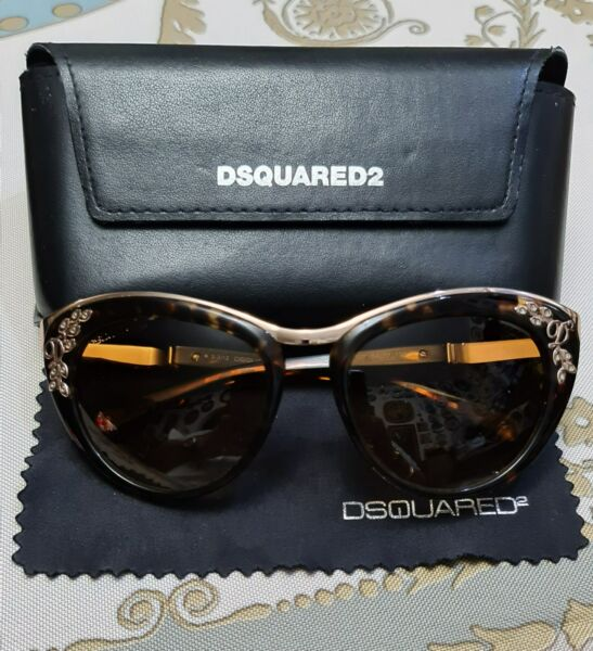 Authentic Dsquared2 DQ 0096 S 52F Amazing Cat Eyes Sunglasses Mint Condition $175.00