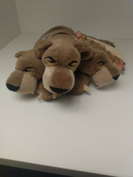 2001 Harry Potter Cerberus 3 Headed Dog Fluffy NEW WITH TAG warner brothers $25.00
