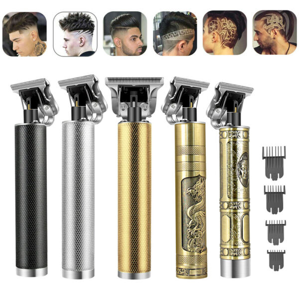 Cordless T Outliner Clipper Portable Electric Pro Trimmer Wireless Hair Cutting $12.99