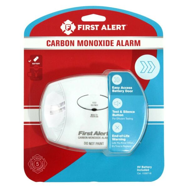 First Alert Carbon Monoxide Alarm Battery Operated $19.73