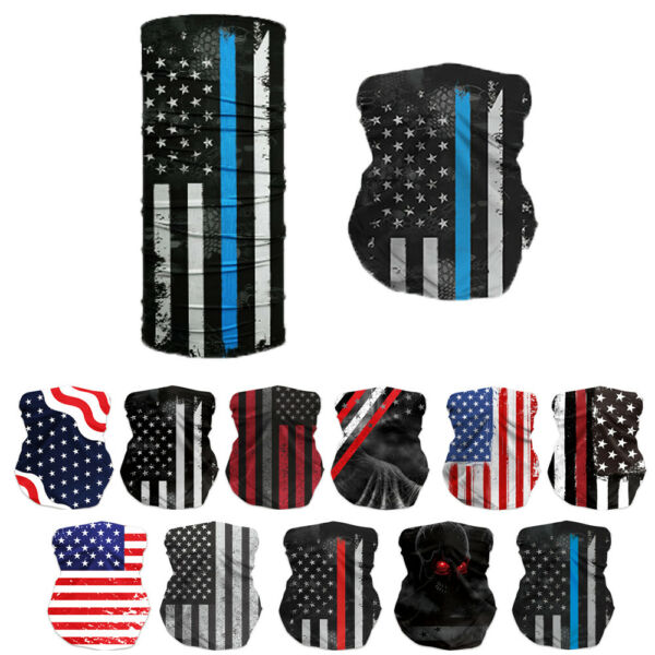 motorcycle bike face cover neck bandana scarf tube wrap cycling American Flag 01 $6.59