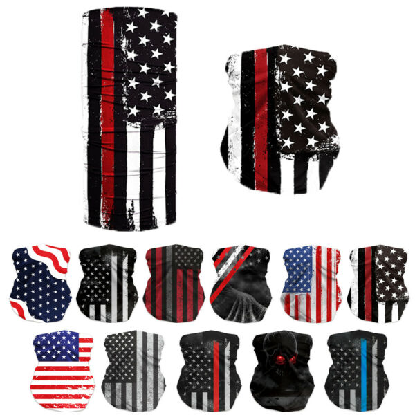 motorcycle bike face cover neck bandana scarf tube wrap cycling American Flag 08 $6.59