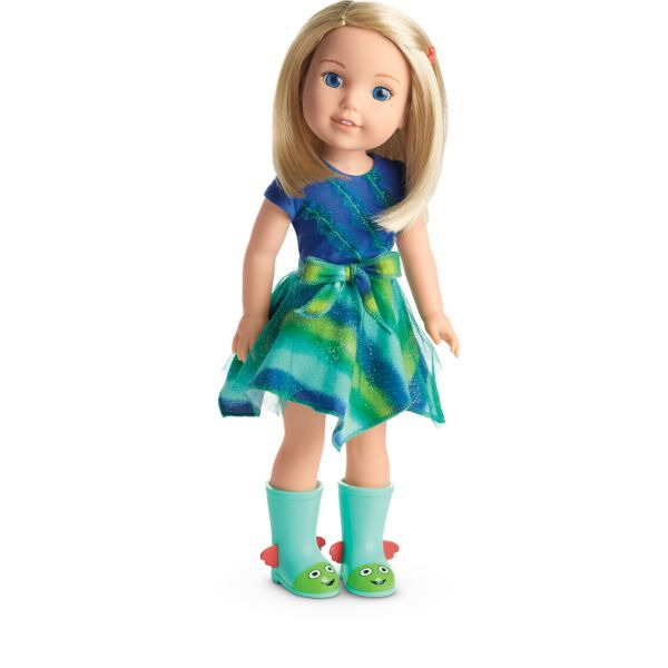 American Girl Wellie Wishers Camille Doll 14.5