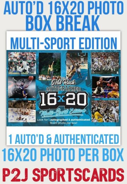 2020 Gold Rush Multi-Sport Vault AUTO 16x20 1 RANDOM SPOT - MLBNFL+ Break 2921