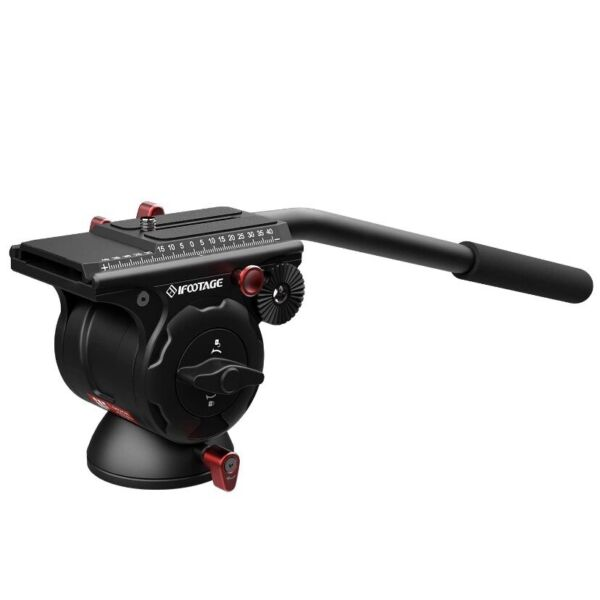 iFootage KOMODO K5 fluid head paylod 5kg 11lbs 360° pan and 90 83° tilt range