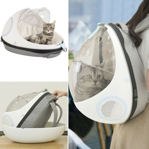 Puppy Pet Carrier Backpack Capsule Travel Dog Cat Bag Breathable Astronaut Bag $57.92