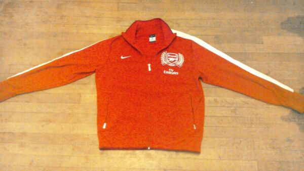 Nike Arsenal London Football Red Training Jacket (The Gunners) Soccer Zip Sz Lg