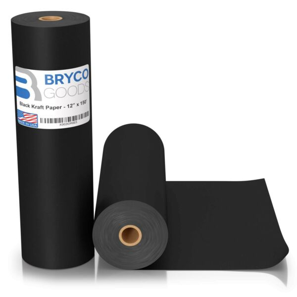 Black Kraft Arts and Crafts Paper Roll - 12 inches by 150 Feet (1800 Inch) - ...