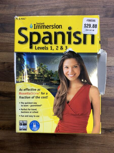 Instant Immersion: Levels 1 2 amp; 3 Family Spanish Complete Edition Audio CD#x27;s $12.99