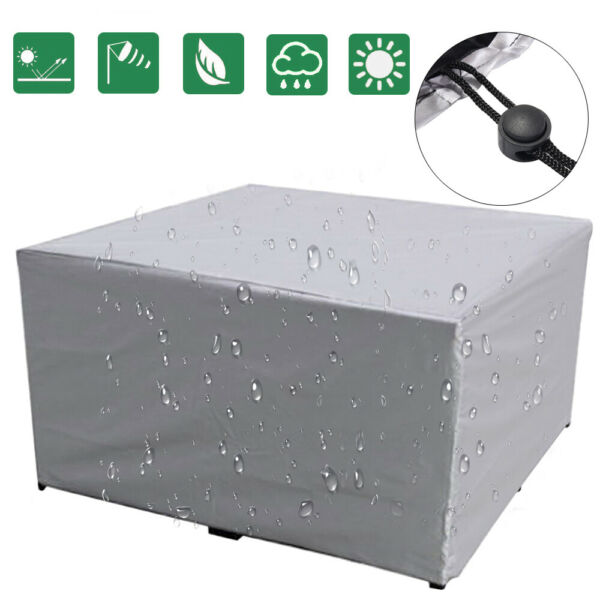 Waterproof Outdoor Garden Patio Furniture Cover Rectangular Table Dust Protector