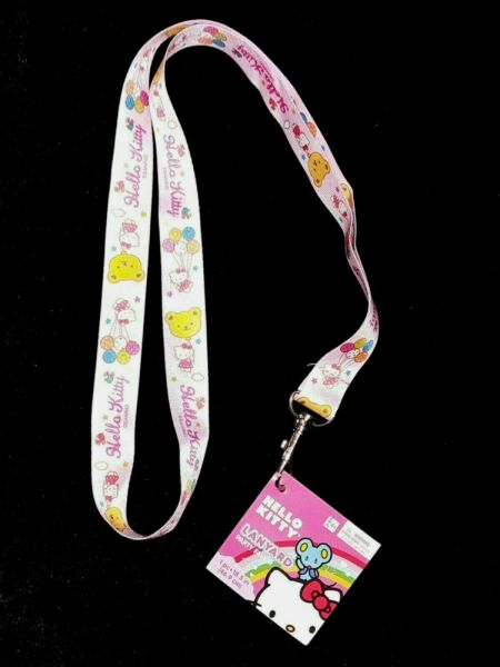 Sanrio Hello Kitty with Balloons Lanyard 18.5quot; with Metal Clip for ID#x27;s Keys