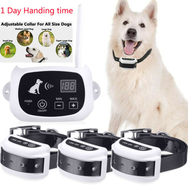Wireless Dog Fence Pet Containment System Waterproof Training Collars 1 2 3 Dogs $54.99