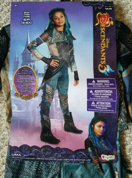 Disney Uma Descendants 3 Deluxe NEW Package Girl Costume by Disguise Size S 4-6X