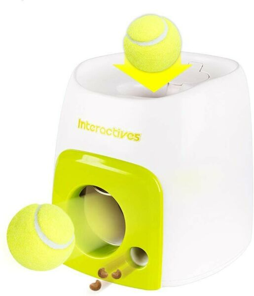 Automatic Pet Feeder Dog Toy Tennis Ball Launcher Training Throwing Ball Machine $59.99