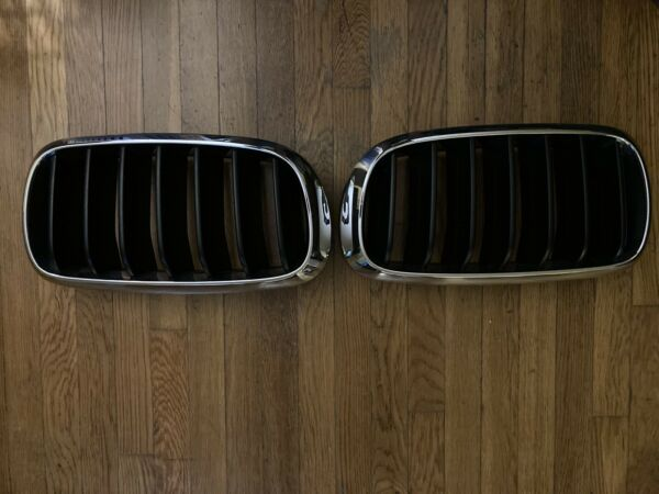2014 2017 BMW X5 F15 FRONT RIGHT amp; LEFT KIDNEY GRILLE OEM
