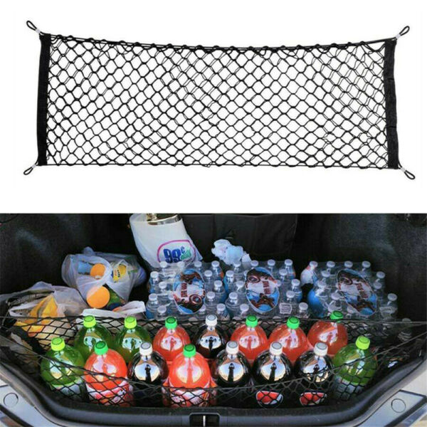 Accessories Car Trunk Cargo Net Storage Envelope Style Elastic Mesh Universal $14.47