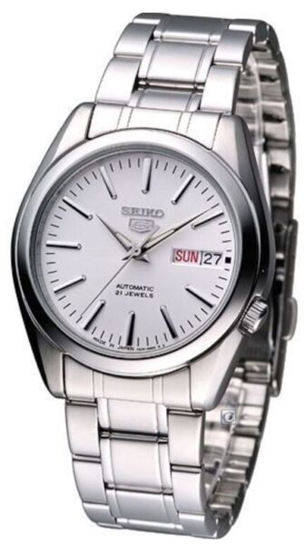 Seiko 5 Automatic SNKL41J1 White Dial Stainless Steel Men#x27;s Watch $125.00