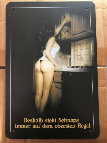 Why Beer Is Always On The Top Shelf Metal Tin Sign Sexy Girl Pin Up