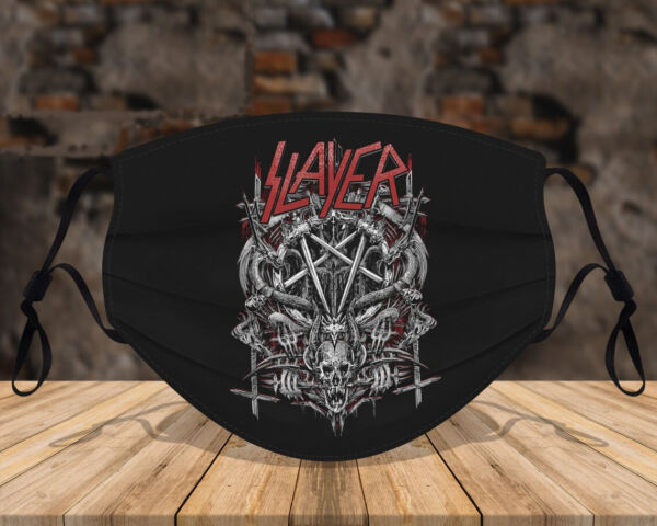 Slayer Demon Sign Funny For Happy Cute Face Mask $14.99