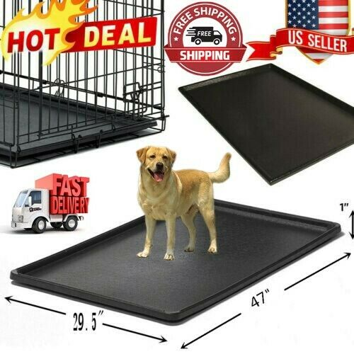 Pet Dog Crate Replacement Pan 47 Inch Plastic Liner Repl Tray Floor Cage Kennel $29.99