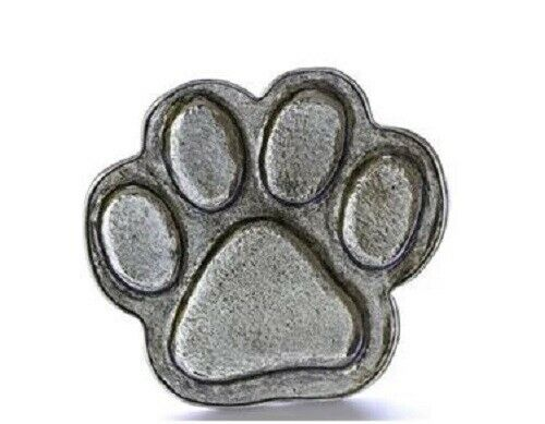 Grillie PAW PRINT Ornament for Car Truck Grill Dog Antique Nickel