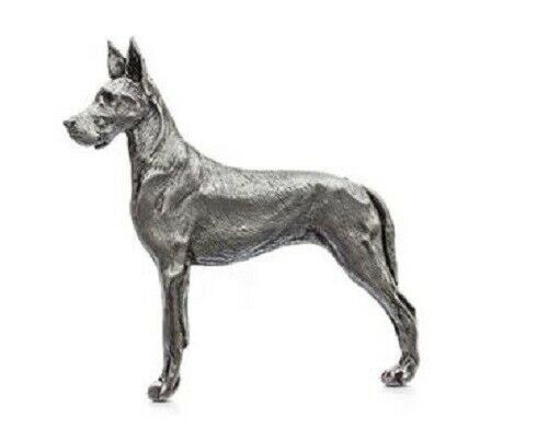 Grillie GREAT DANE Ornament for Car Truck Grill Dog Antique Nickel
