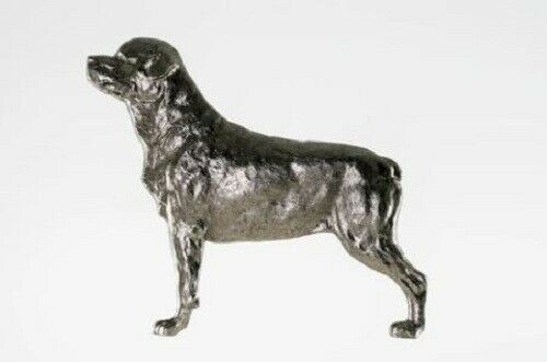 Grillie ROTTWEILER Ornament for Car Truck Grill Dog Antique Nickel