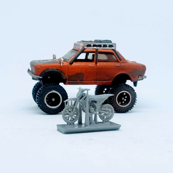 1 pc. Moto Cross Bike 1:64 scale 3D printed resin for Hot Wheels Matchbox $2.75