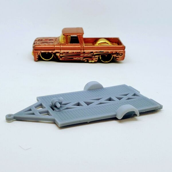 1 Transport Trailer 1:64 scale 3D printed resin for Hot Wheels Matchbox $3.25