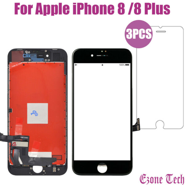 iPhone 8 8Plus LCD Touch Screen Digitizer Replacement Protector Repair Tools